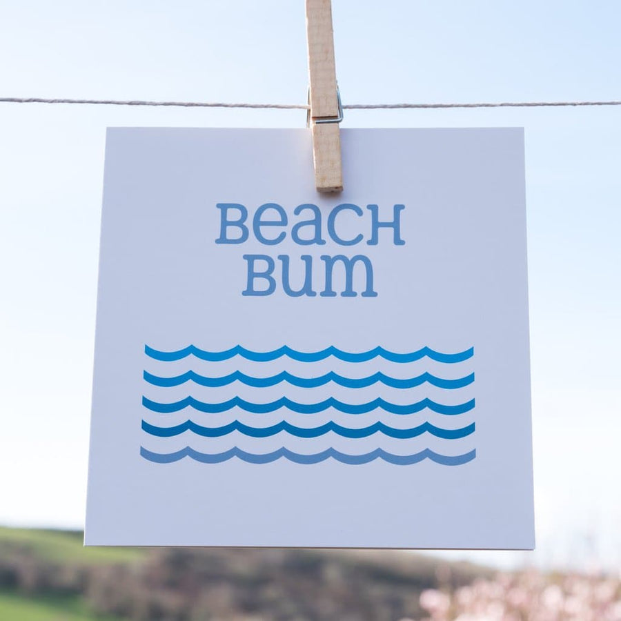 Beach Bum Card - Aurina Ltd