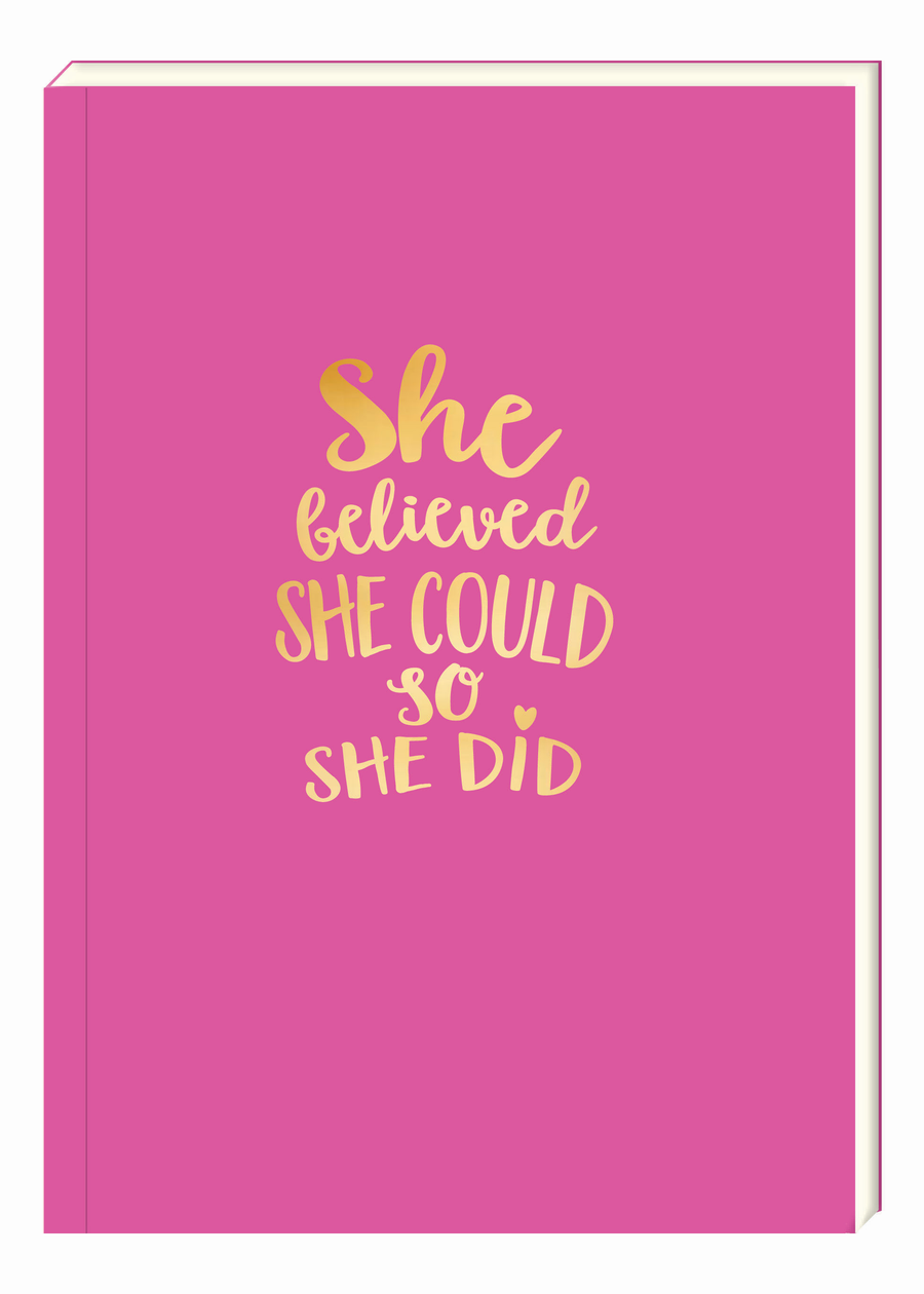 Believed She Could Notebook - Aurina Ltd