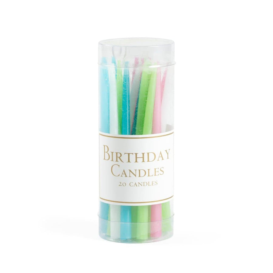Birthday Candles in Pastels - 20 Candles - Aurina Ltd