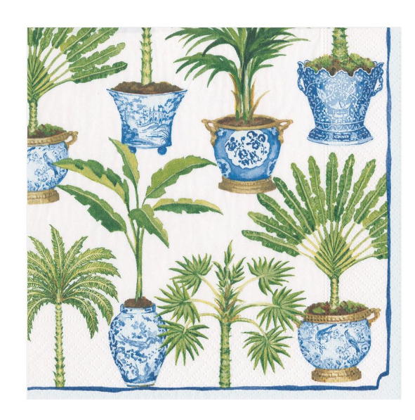 Paper Napkin - Potted Palms -  - aurina-ltd-2