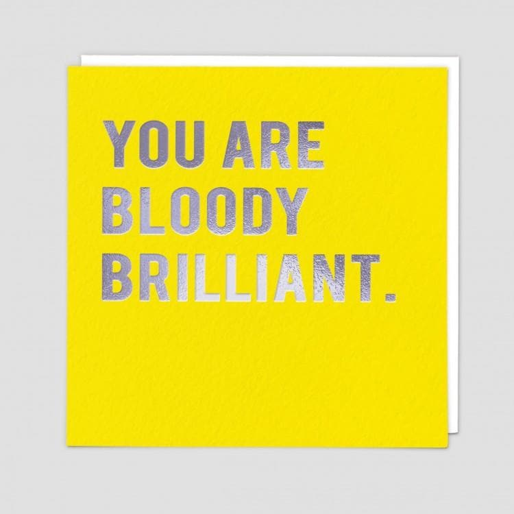 Bloody Brilliant Card - Aurina Ltd