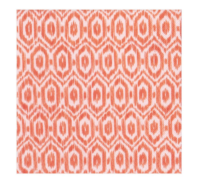 Paper Napkin Orange Amala Ikat - Aurina Ltd