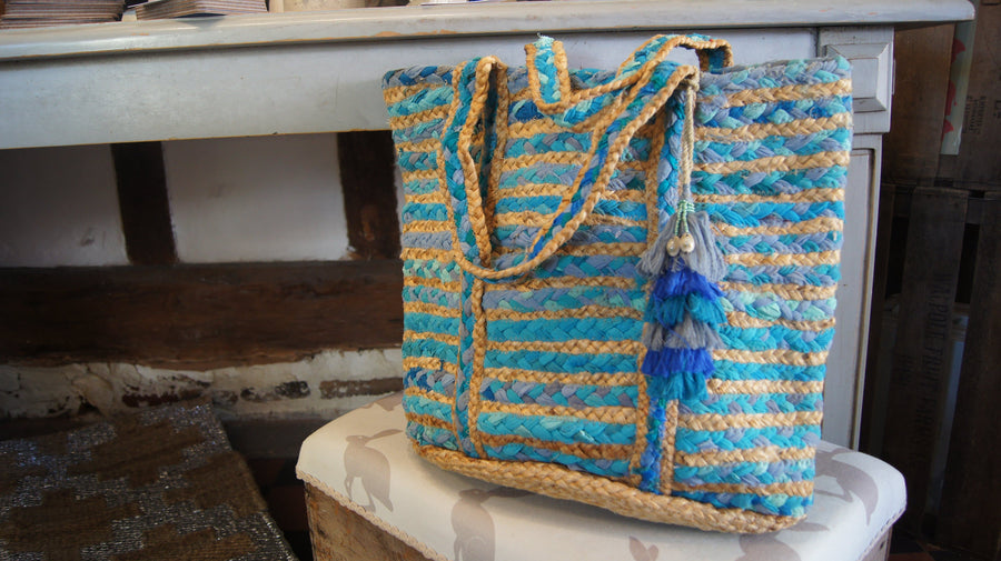 Bucket Rag & Jute Basket - Bags - aurina-ltd-2