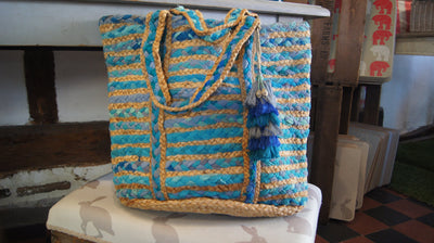 Bucket Rag & Jute Basket