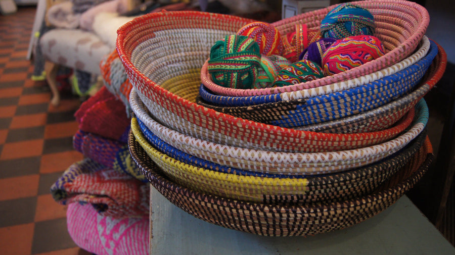 Small African Woven Baskets - Aurina Ltd