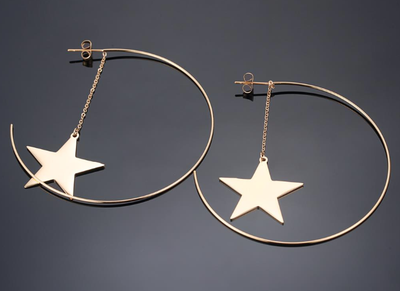 Rock Star Hoop Earring