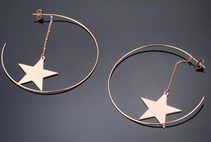 Rock Star Hoop Earring -  - aurina-ltd-2