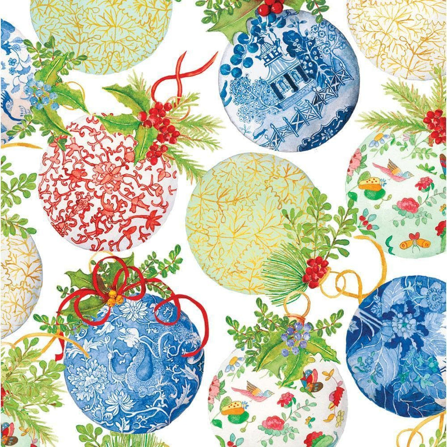 Gift Wrapping Paper - Porcelain Ornaments