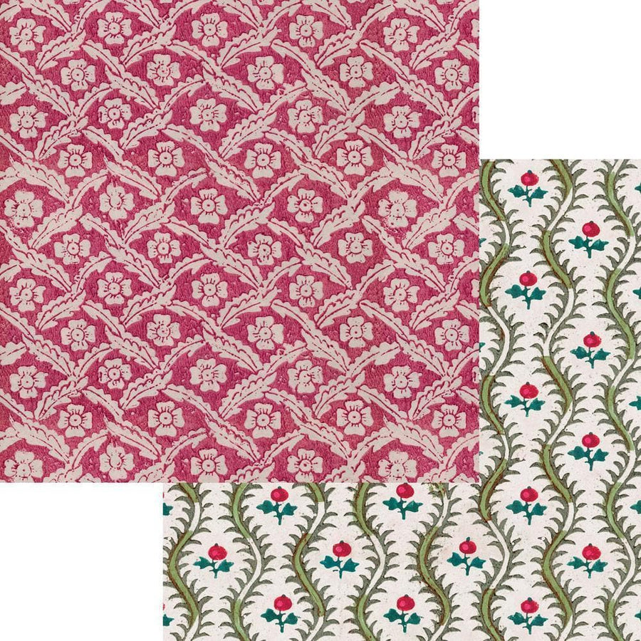 Gift Wrapping Paper - Floral & Holly - Aurina Ltd