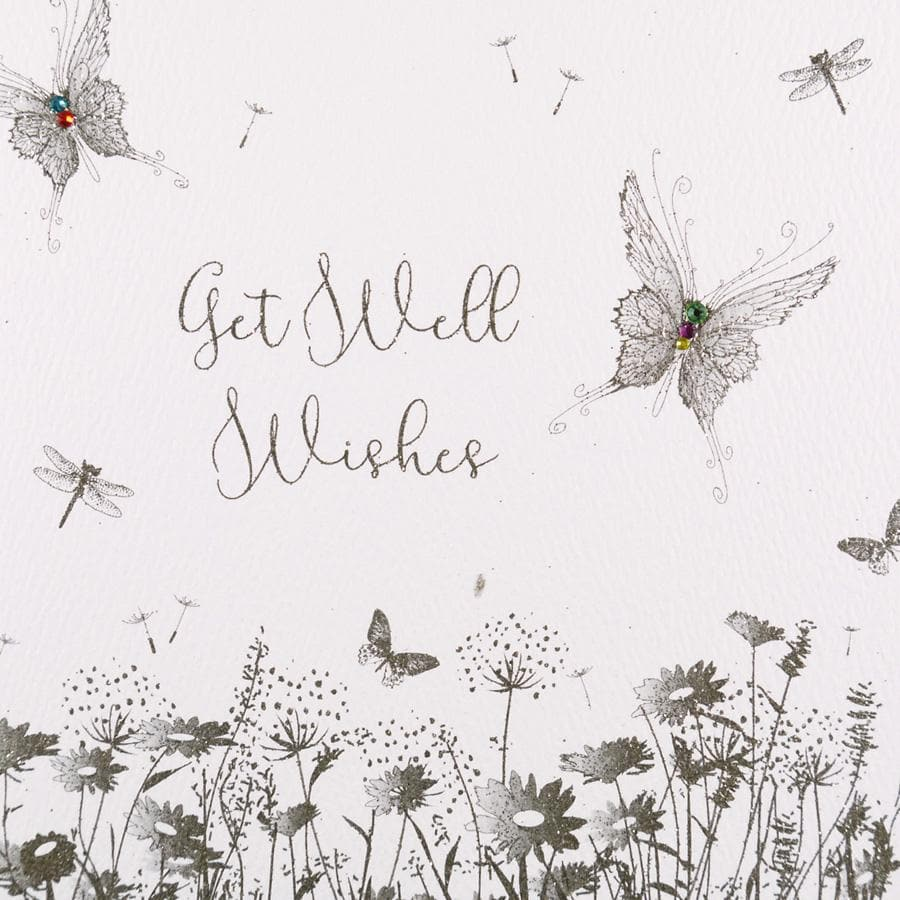 Get Well Wishes Card - Aurina Ltd