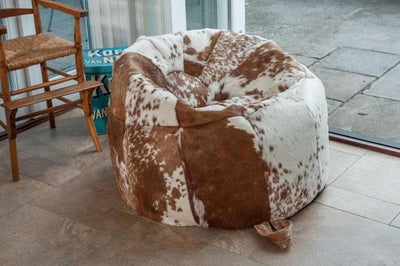 Giant Cow Hide Bean Bag