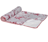 Super Soft Red and White Christmas Throw - Aurina Ltd