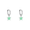 Huggie Star Earring - Turquoise and Silver - Aurina Ltd