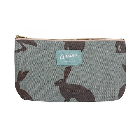 Large Hetty Hare Linen Wash Bag