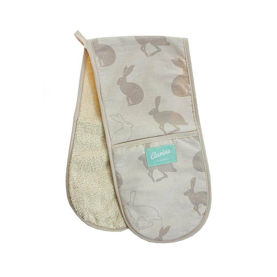 Hetty Hare Oven Gloves - Aurina Ltd