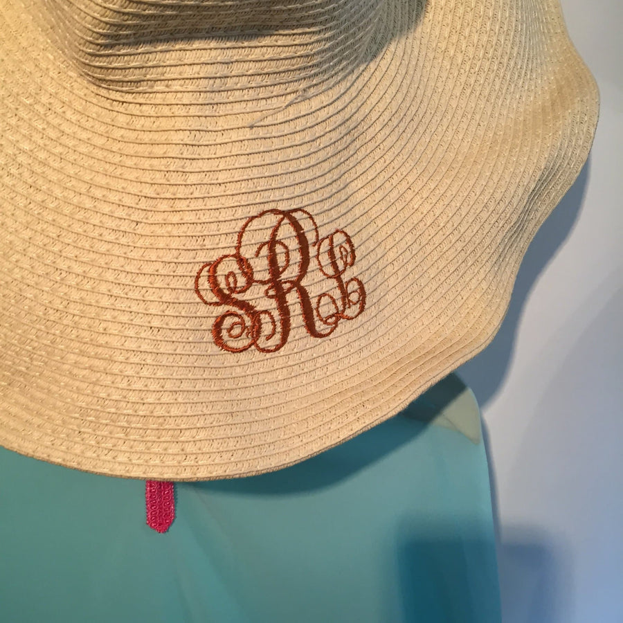 Royal Blue Monogrammed Hat - Aurina Ltd