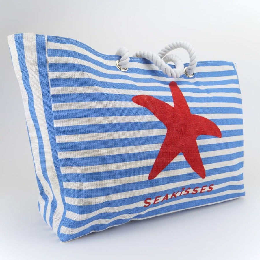 Stripey Jute Flip Flops Bag