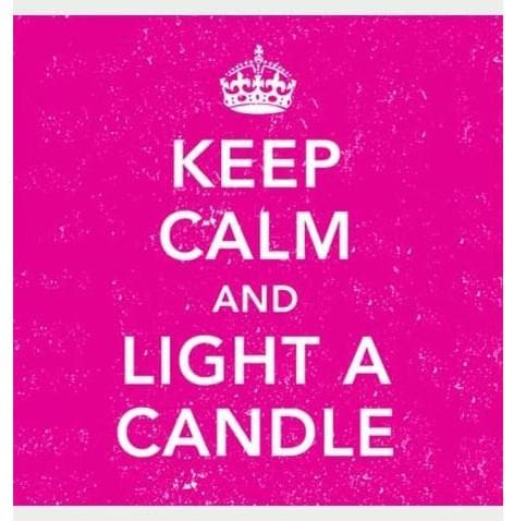 Keep Calm and Light a Candle Square Matches