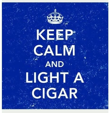 Keep Calm and Light a Cigar Square Matches