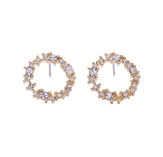 Crystal Eternity Hoop on Post Earring -  - aurina-ltd-2