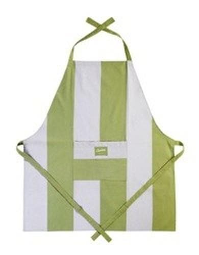 Adult Cooking Apron Wide Stripe Sage & Stone - Aurina Ltd