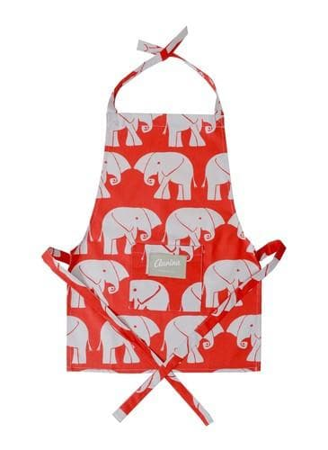 Childrens' Apron - Nellie Red and Stone - Aurina Ltd