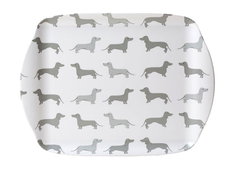 Dachsie Medium Melamine Tray