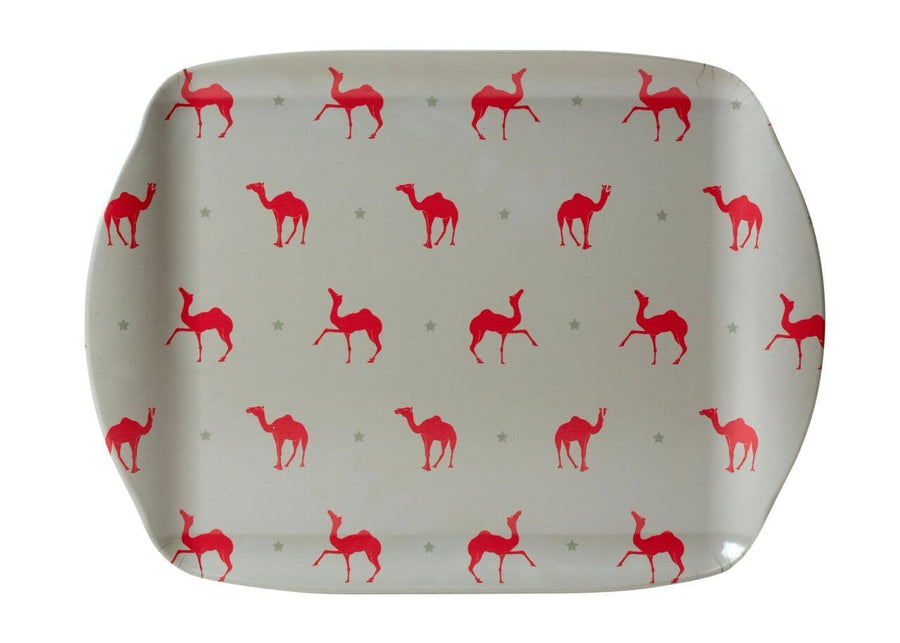 Meredith Camel Medium Melamine Tray - Aurina Ltd