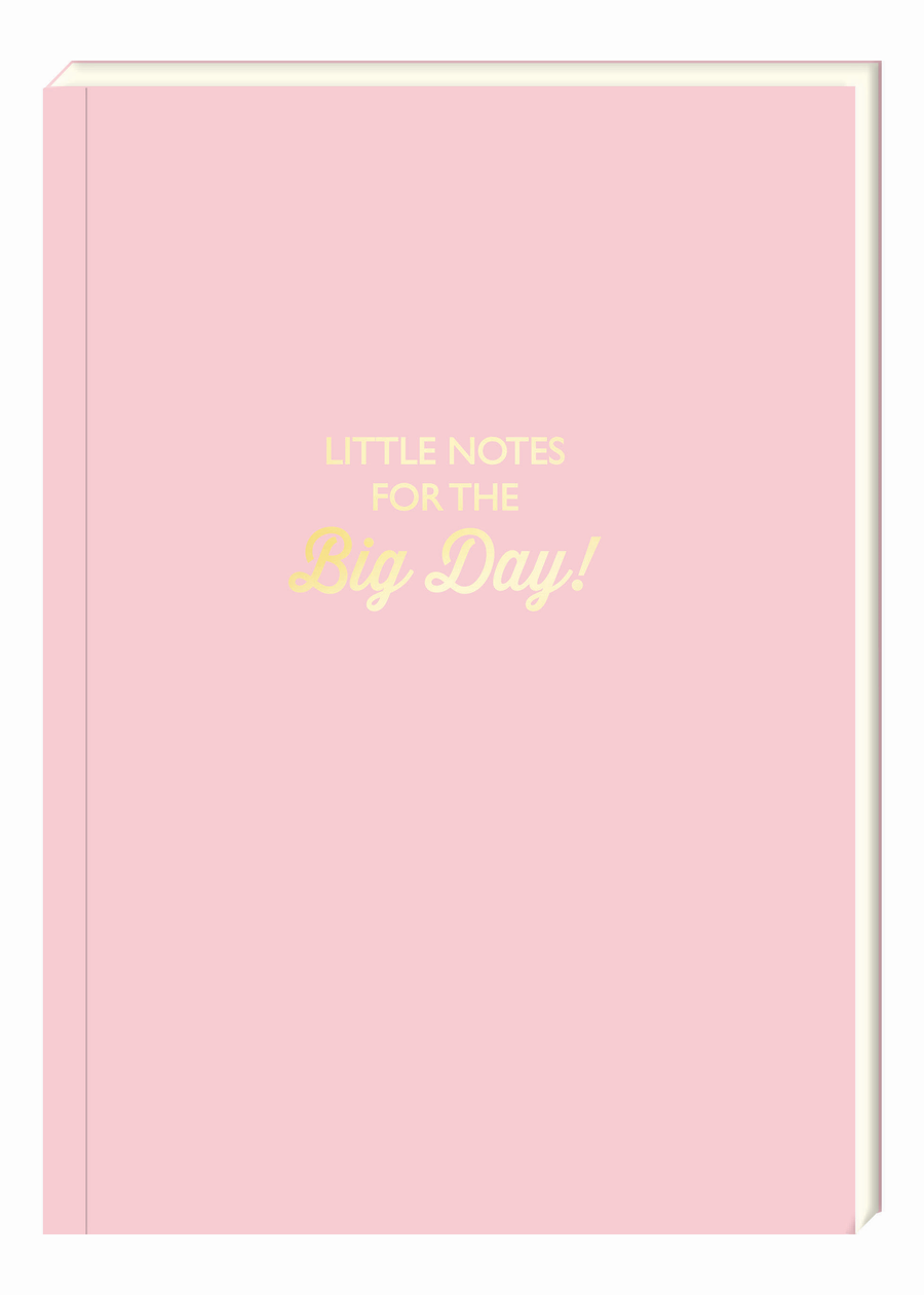 Little Notes For The Big Day Notebook - Aurina Ltd