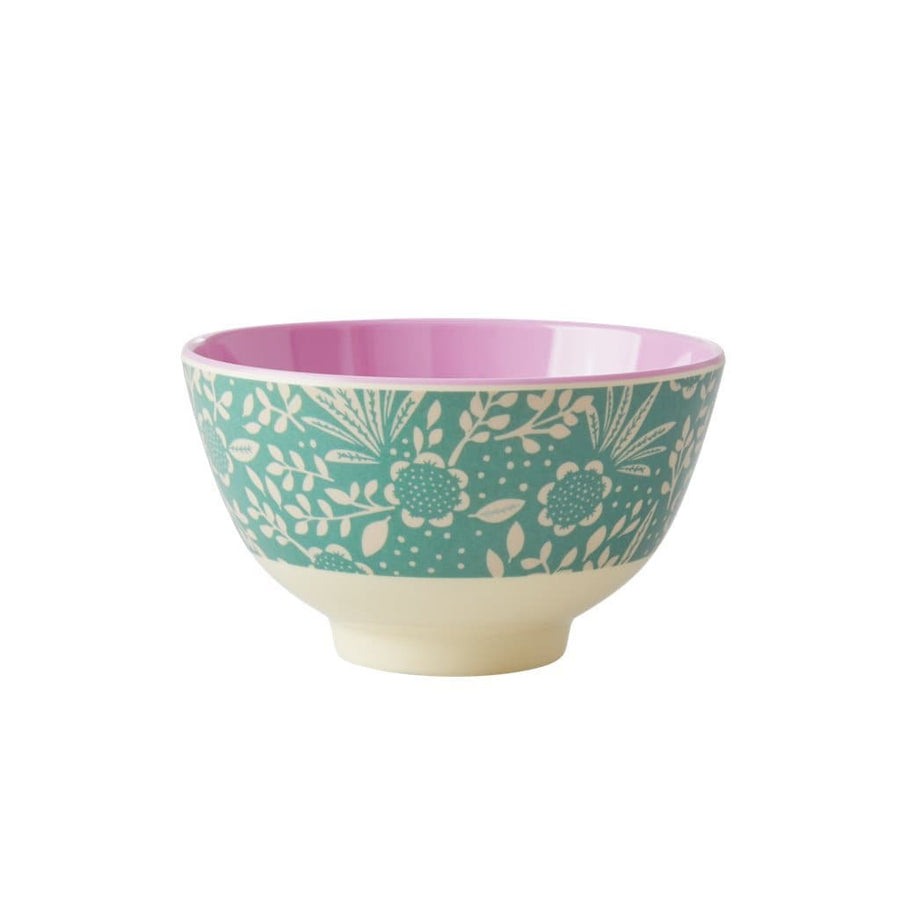 Fern and Flower Print Small Melamine Bowl -  - aurina-ltd-2