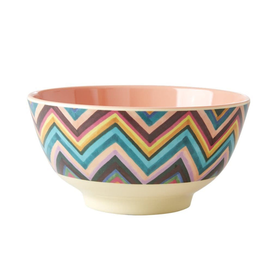 Medium Melamine Zig Zag Bowl -  - aurina-ltd-2