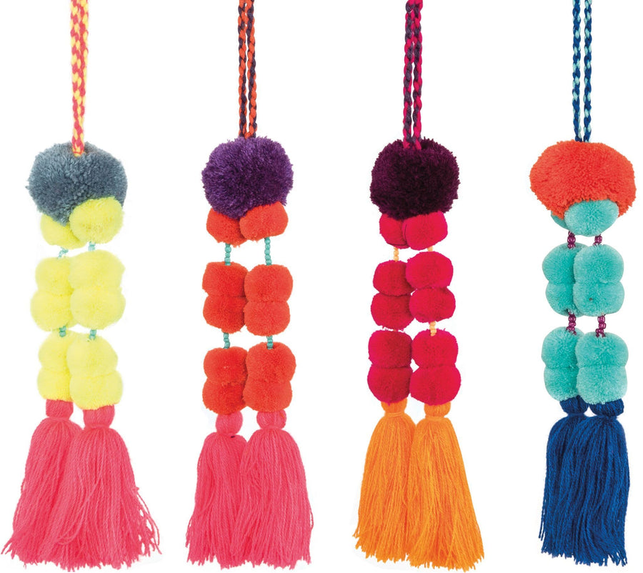 Neon Pom Pom Bag Charm - Aurina Ltd
