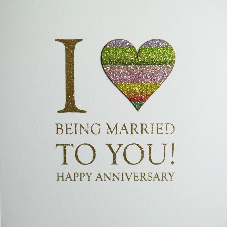 I Love being married to you happy anniversary card - Aurina Ltd