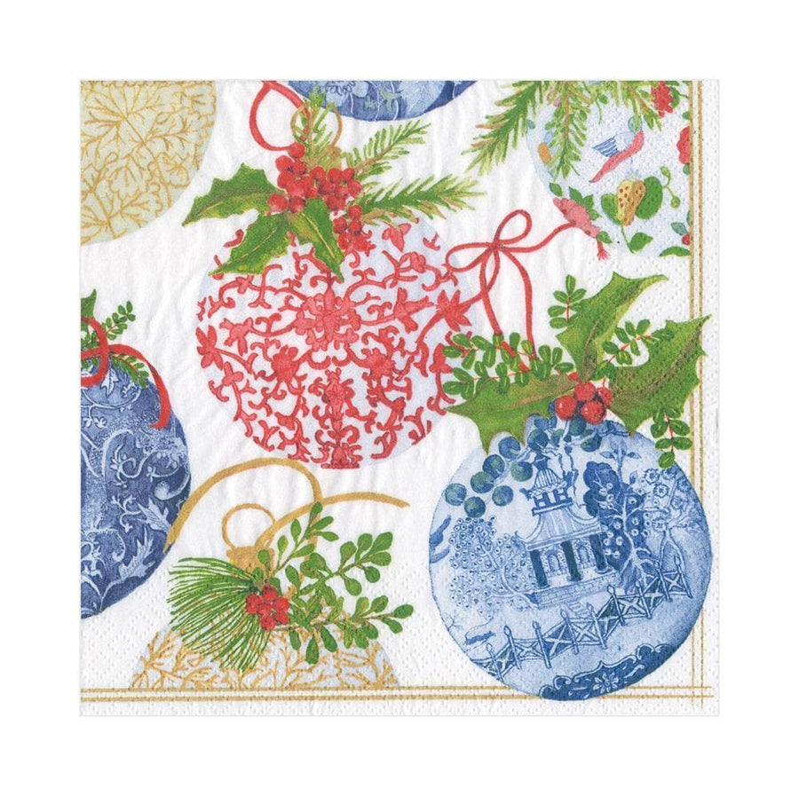 Paper Napkin - Porcelain Ornaments - Aurina Ltd
