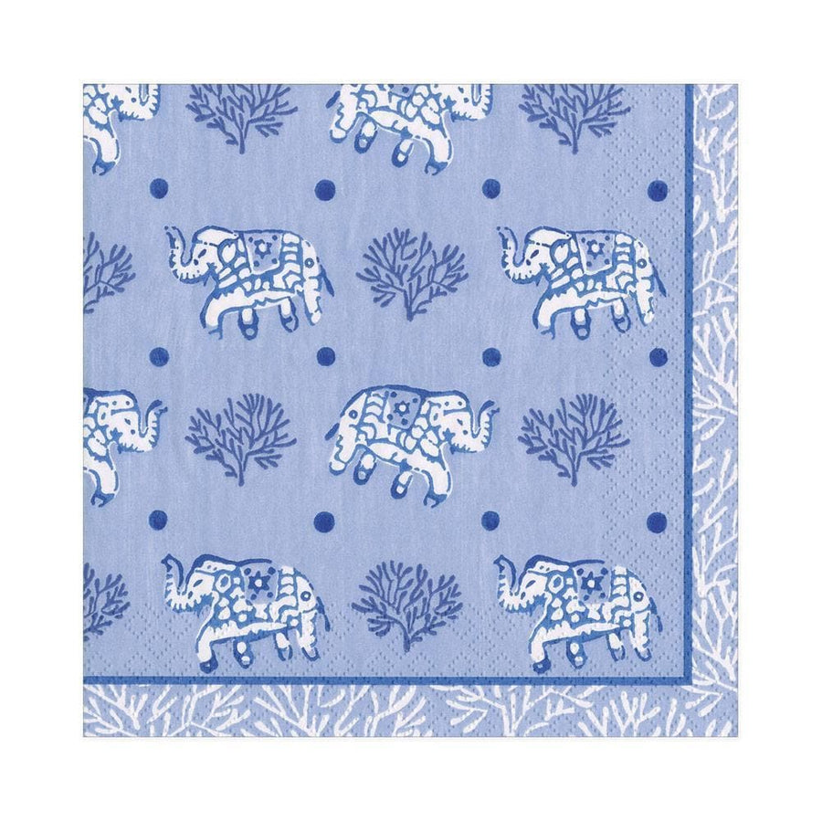20 Paper Napkins - Batik Elephants - Aurina Ltd