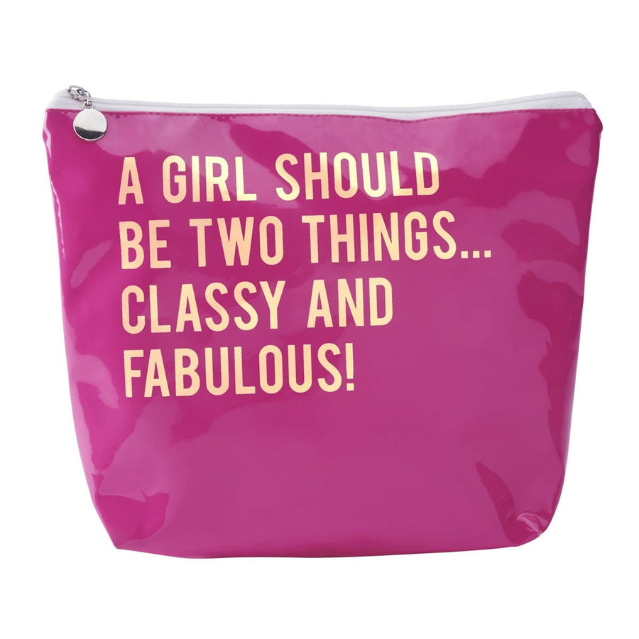 Extra Large A girl should be two things Make-Up Bag