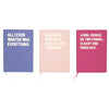 A girl should be two things...classy and fabulous! Large Pink Notebook - Stationery - aurina-ltd-2
