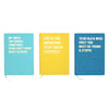 Life is too important to be taken seriously Large Yellow Notebook - Stationery - aurina-ltd-2