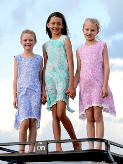 Sandfish Girls A Line Dress