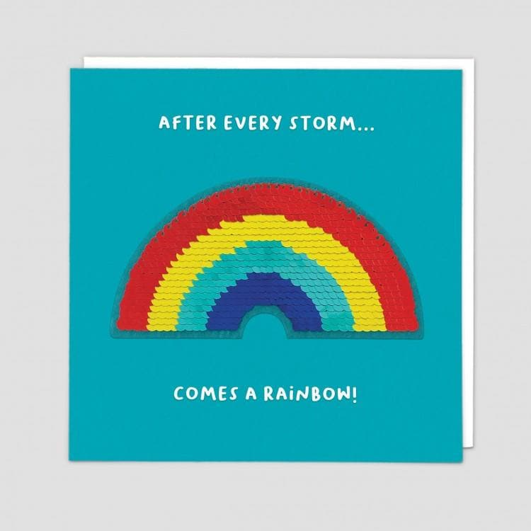 After Every Storm Comes A Rainbow Card - Aurina Ltd