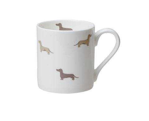 Dachsie Small Bone China Mug