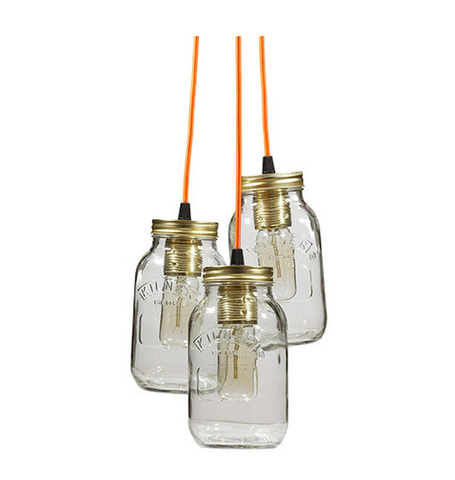 Triple Kilner Jar Light