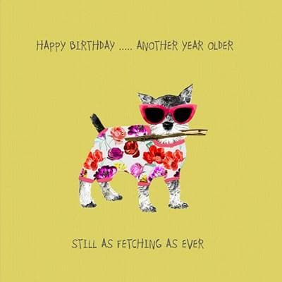 Another Year Older Dog Card - Aurina Ltd