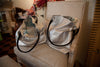 Aurina Silver Leather & fabric lined handbag
