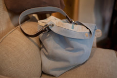 Suede and Fabric lined Aurina Bag