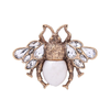 Bee Brooch Gold & Cream