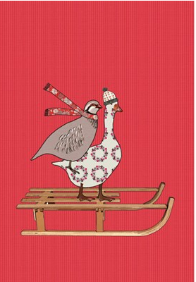 Christmas Card Packs - Birds on Sledge
