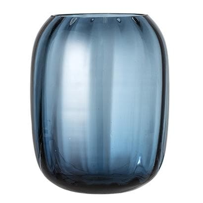 Blue Glass Vase - Aurina Ltd