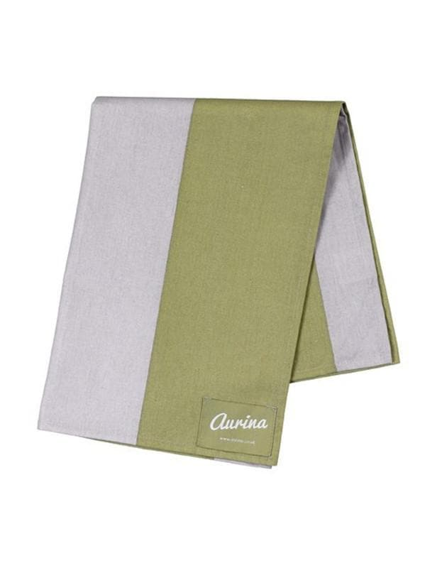 Cotton Tea Towel Wide Stripe - Sage & Stone
