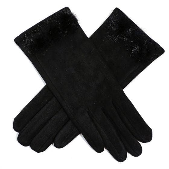 Black Suedette Gloves
